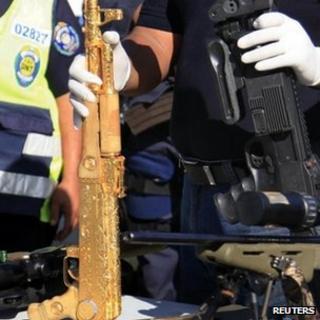 Gold-plated AK-47 assault rifle