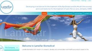 Lamellar Biomedical website