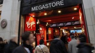 Virgin Megastore on the Champs Elysees, 5 January 2013