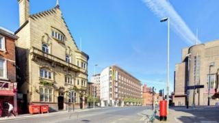 Artist's impression of the plans for student accommodation on Hope Street
