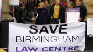 Birmingham Law Centre supporters
