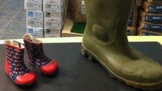 Wellington boots at Saltholme