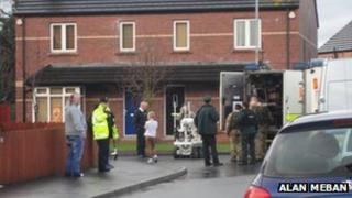 Scene of Lurgan security alert