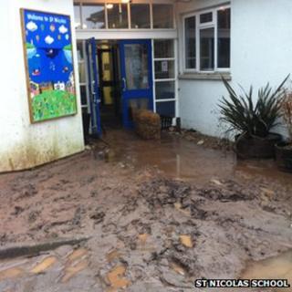 Mud at St Nicolas School