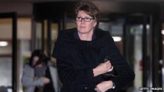 April Casburn leaving Southwark Crown Court on 7 January 2013