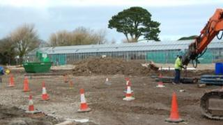A construction site in Guernsey