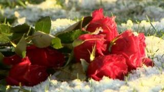 The ashes were buried in a mass grave in the Garden of Remembrance