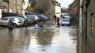 Malmesbury flooding in November 2012