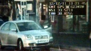 CCTV footage of Susan Hatton's car in the bus stop in Leigh-on-Sea
