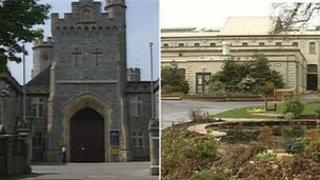 HMP Kingston (left) and Camp Hill prisons