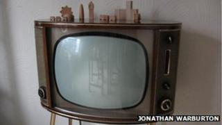 Restored black and white television.