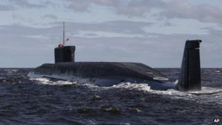 Yuri Dolgoruky sub on sea trial near Archangel, 2 July 09