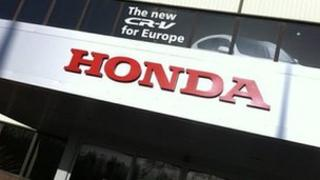 Entrance to Honda car plant in Swindon