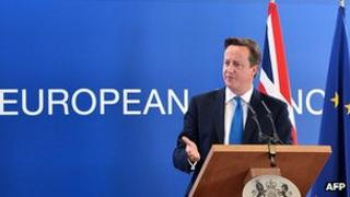 PM David Cameron in Brussels, 19 Oct 12