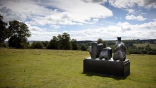 Henry Moore Three Piece Reclining figure