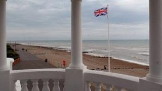 Union flag flying in Bexhill