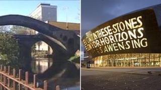 Pontypridd and Cardiff