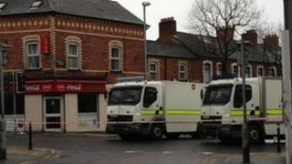 The road was sealed off as Army bomb disposal officers were called to the scene