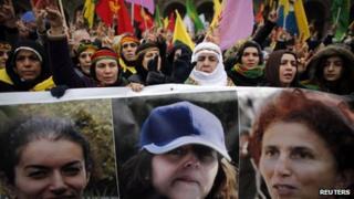 Kurdish demonstrations in Paris on Saturday