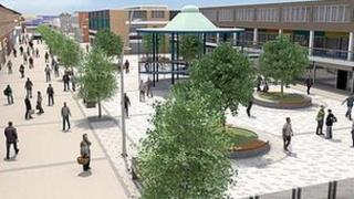 Artist impression of the revamped Billingham town centre