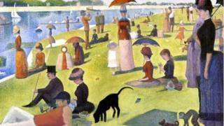 Seurat's Sunday afternoon on the Island of Grande Jatte with the trees