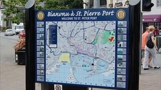 St Peter Port information board