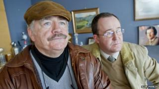 Brian Cox and Jonathan Watson star as Bob Servant and his campaign manager, Frank.