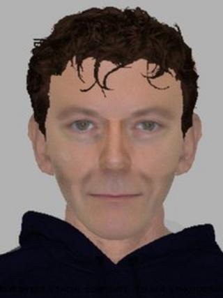 E-fit of man police are looking for in relation to a glass and bleach attack in Haverhill