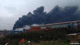 Fire at Sheerness docks