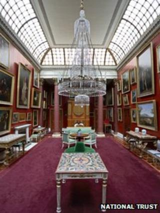 Picture gallery at Attingham Park