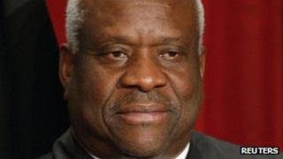US SUpreme Court Justice Clarence Thomas file picture