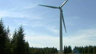 Example of an onshore wind turbine