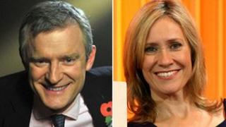 (L) Jeremy Vine and Sophie Raworth