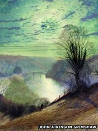 John Atkinson Grimshaw On the Tees, near Barnard Castle - Leeds Museum and Galleries (City Art Gallery) The Bridgeman Art Library
