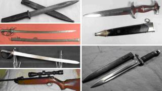 Weapons stolen in Northamptonshire