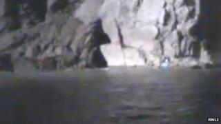 RNLI footage of the rescue