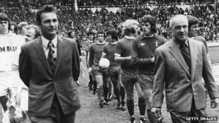 Brian Clough (left) and Bill Shankly