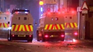 Scene of trouble in east Belfast on Monday
