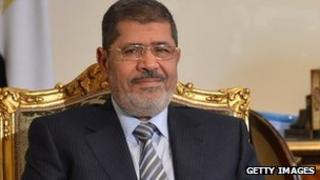 Mohammed Morsi in Cairo (10 January 2013)