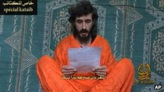 Denis Allex in a picture released by Al-Shabab in June 2010