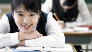 girl at desk