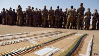 French troops near Bamako in Mali, 16 January 2013
