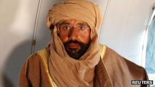 Saif al-Islam Gaddafi after his capture in November 2011