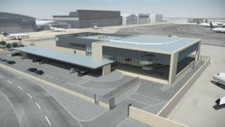 Impression of the Signature business complex at Luton Airport