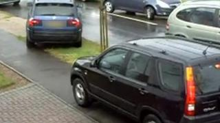 Cars driving on pavement