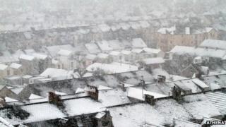 Snow in Swansea