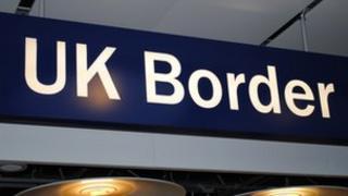 Arwydd UK Border Agency