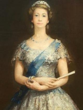 John Napper's painting of The Queen - photograph courtesy of St George's Hall