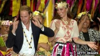The Duke and Duchess of Cambridge in Tuvalu