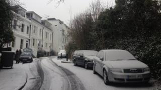 Snow in Tunbridge Wells, Kent